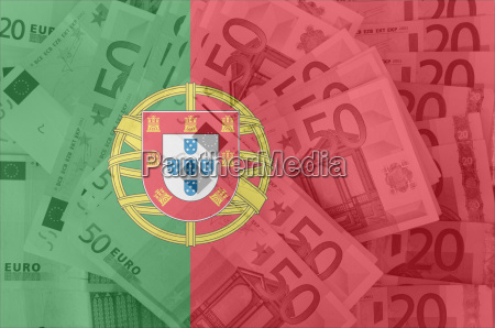 flag of portugal with transparent euro