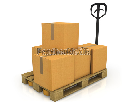 stack of carton boxes on a