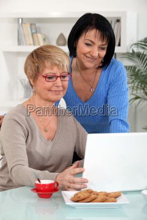 mature women in front of a