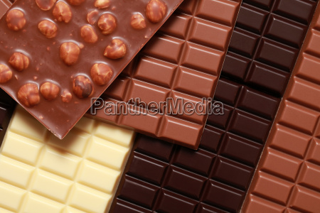 different varieties of chocolate