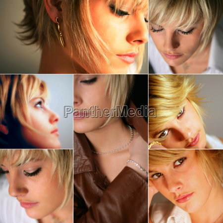 portraits of a young blond woman