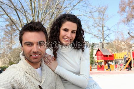 parents in park for children
