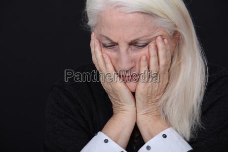 a sad old lady