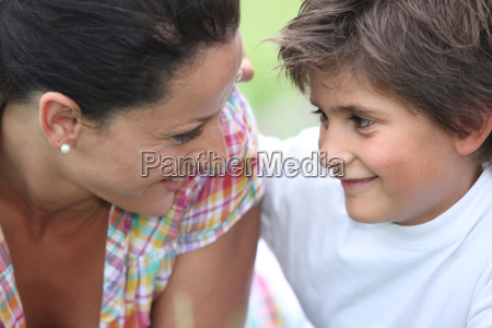 matriz e filho no parque