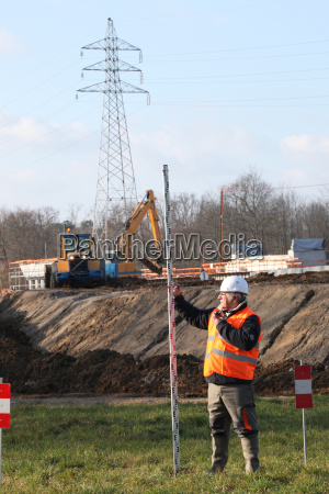 geometer on a construction site