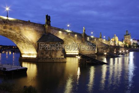 prague the golden city night