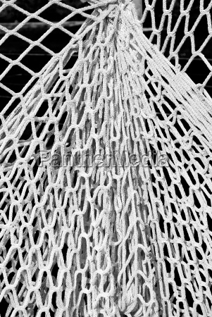 fishing net in black and white