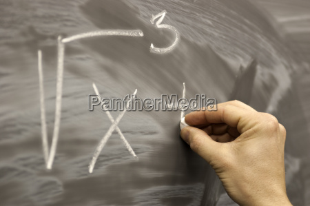 drawing on school desk mathematics formula