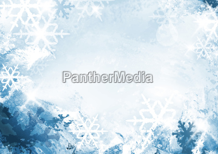 flake of snow background with copy