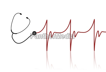 stethoscope with heart rate