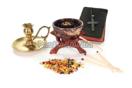 incense with incense bowl and the