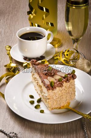 halva cake kaffe and champagne