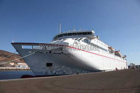 large modern ferryboat in the harbor