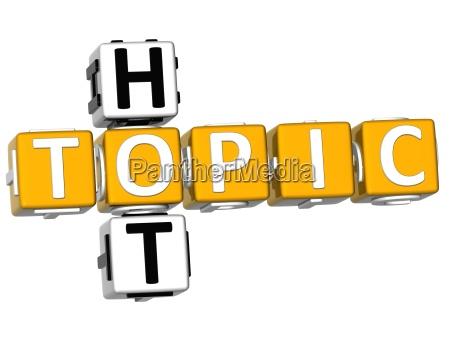 3d hot topic crossword