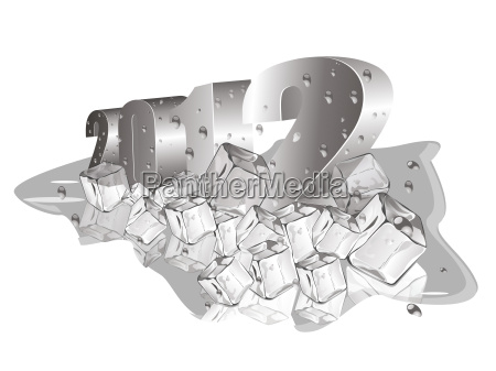 new year ilustration with 3d text