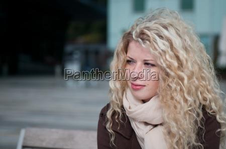 woman portrait outside