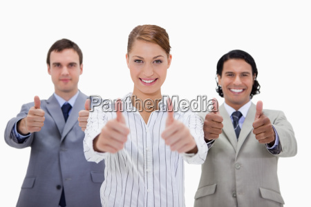 businessteam approving