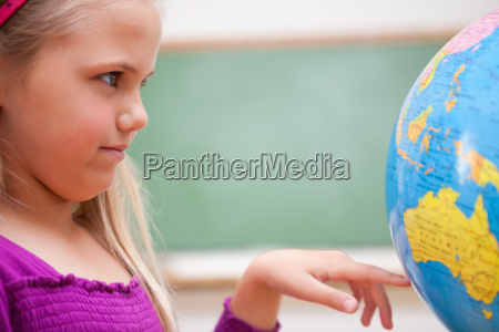 close up of a schoolgirl looking