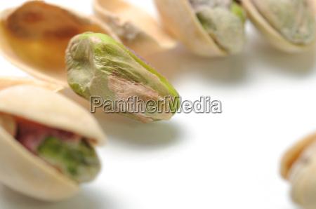 macro pistachio