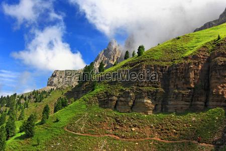 mountains alps hike go hiking ramble