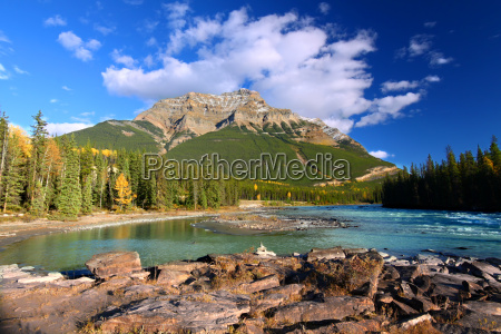 athabasca river and mount kerkeslin