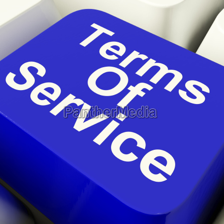 terms of service computer key in