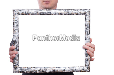 picture frames and two hands