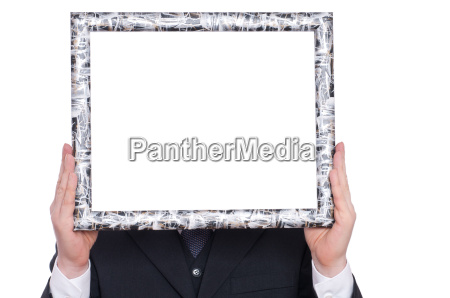 wooden frame and two hands