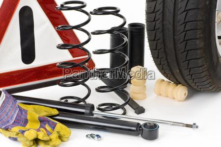 installing shock absorbers