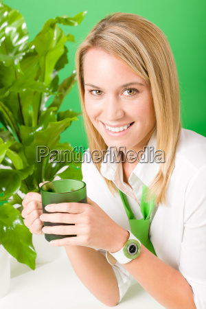 green, business, office, woman, smiling, plants - 6155246