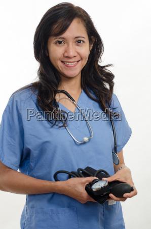 attractive asian filipino nurse doctor healthcare