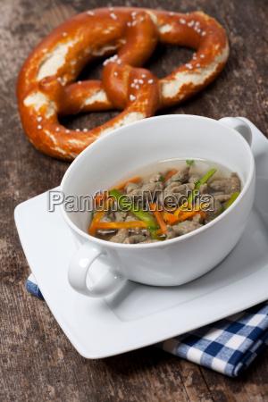 bavarian liver spaetzle soup