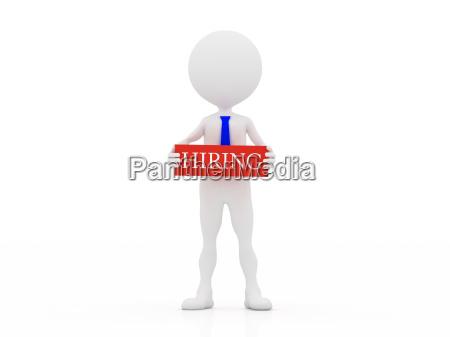 3d hiring person