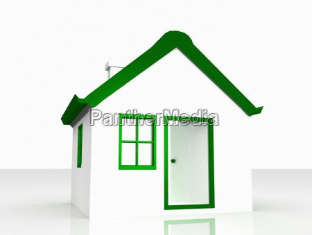 lucky home green white