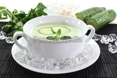 iced cucumber soup with yogurt
