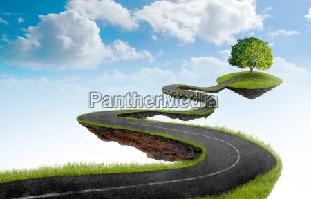 the road to tree