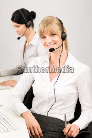 customer service woman call center phone