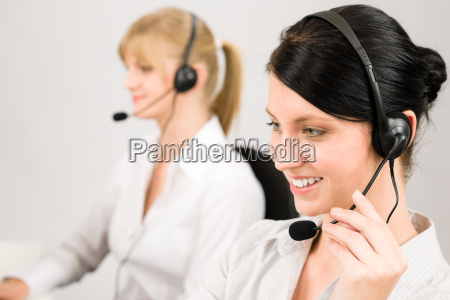 customer service woman call center phone