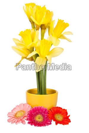 easter decoration with easter bells and