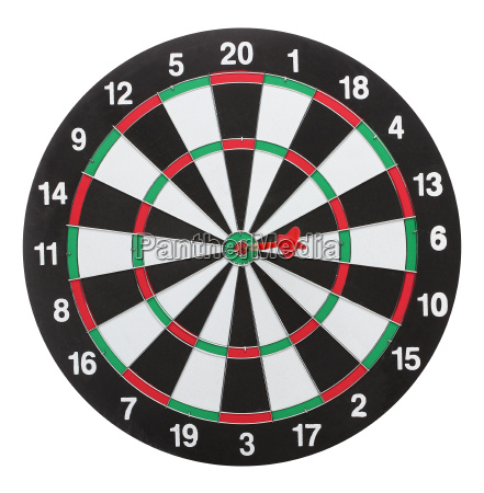dartboard bullZs eye isolated on white