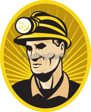 coal miner worker front