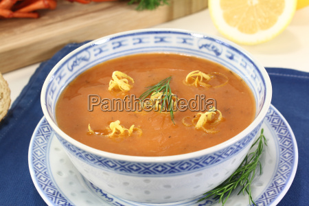 asian lobster cream soup
