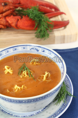 fresh asian lobster bisque