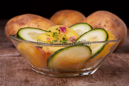 bavarian potato salad with cucumber