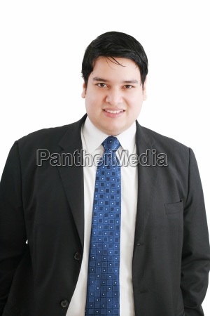 happy young business man isolated on