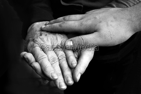 hands of young and old
