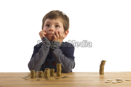 a boy sitting in front of