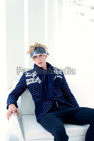 modern male model with futuristic sci
