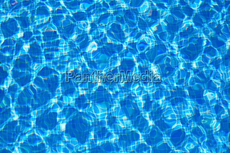 blue tiles pool water ripple texture