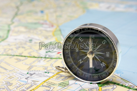 compass, on, dublin, city, map - 6316501